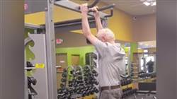 Watch this 90-year-old male facilely finish 24 pullups